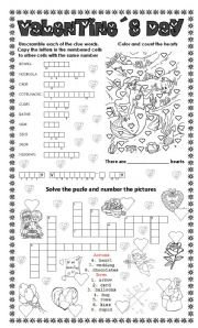 English Worksheets: valentine´s day (3 different exercises)