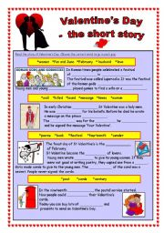 Valentine´s Day - the short story (editable &  key)