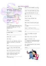 English Worksheets: Lilo stitch movie activity
