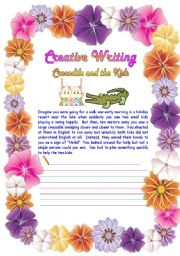 English Worksheets: Creative Writing 12