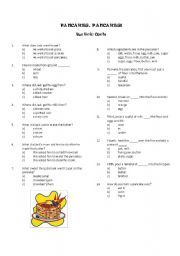 English Worksheet: Pancakes, Pancakes