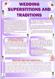 English Worksheet: Wedding superstitions and traditions