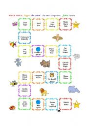 English Worksheets: Compare Animals