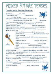 English worksheets: future tense worksheets, page 38