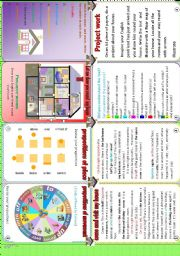 English Worksheets: Minibook:Let me show you round my house
