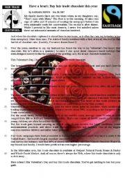 Have a heart, buy fair trade chocolate.
