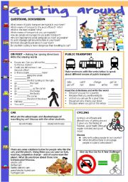 English Worksheet: Getting around