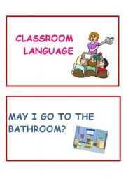 English worksheet: Classroom language part 1