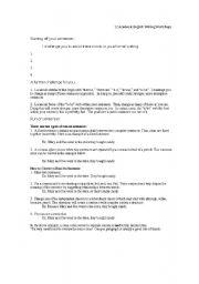 English Worksheets: writing workshops