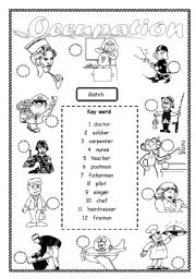 Occupation - worksheet by saifonduan