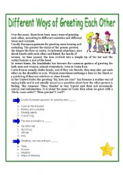 Different ways of greeting each other esl worksheet by vicmon english worksheet different ways of greeting each other m4hsunfo