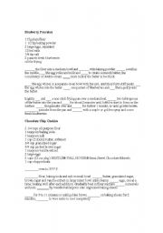 English Worksheet: Food and Cooking Vocabulary Fill in the blanks