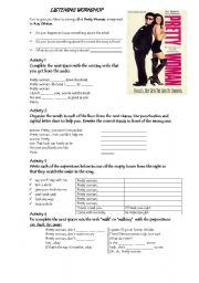 English Worksheets: Pretty Woman song by Roy Orbison