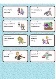 English Worksheets: Making question in present cards