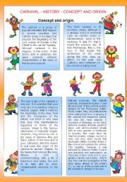 CARNIVAL - CONCEPT AND ORIGIN - ACTIVITIES