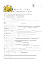 English worksheets: Grammar Rock