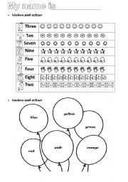 worksheet - pre-school - ESL worksheet by catab33