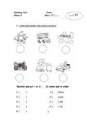 Other listening worksheets worksheets english worksheet listening exam ibookread PDF