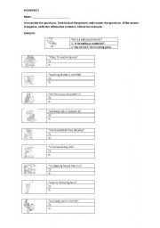english worksheets present progressive questions. Black Bedroom Furniture Sets. Home Design Ideas