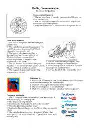 English Worksheets: Media & Communication
