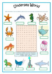 English Worksheets: UNDERSEA WORLD