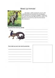 English Worksheets: Mixed Up Animals