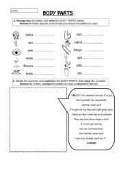 English Worksheets: BODY_PARTS
