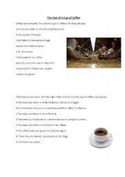 English Worksheet: Reading-The Cost of a Cup of Coffee