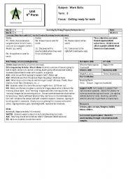 English Worksheets: Work Skills