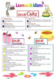 Learn with Idioms ( Part 21):Idioms with Cake, Soup, and Drink