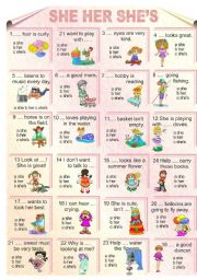 English Worksheets: She She�s Her