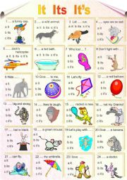 English Worksheets: It Its It�s