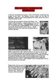 English Worksheets: THE ATOMIC BOMBING OF HIROSHIMA