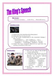 English Worksheet: The King�s Speech questionnaire ( speaking/ writing/ review)