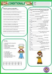 English Worksheet: CONDITIONALS - TYPE 1