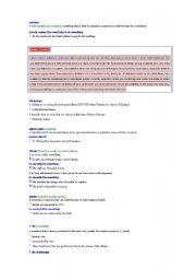 English Worksheets: Glossary