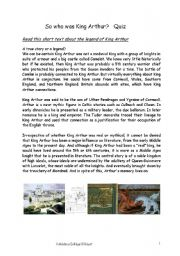an introduction to the literary analysis of the legend of king arthur