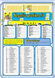 English Worksheet: Negative prefixes part 4