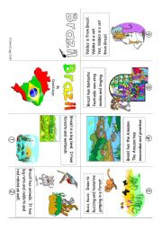 English Worksheet: Mini Book 10: Brazil in colour and greyscale
