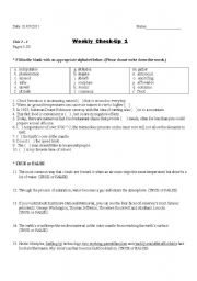 English Worksheets: check up questions for new strategic reading