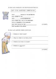 English Worksheets: We eat dinner in the Bathtub - Part 2