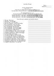 English worksheet: Conjunction Practice