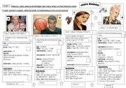 English Worksheets: 4 BIOGRAPHIES.  2 activities reading comprehension/ wrting skill