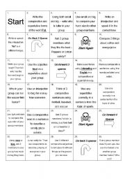 English Worksheet: Comparative Board Game