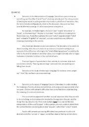English Worksheets: semantic