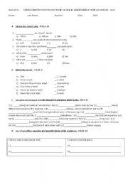 English worksheet: simple present tense quiz