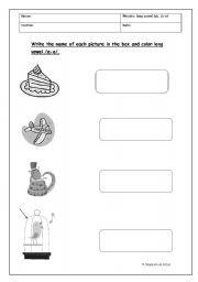 English worksheet: long vowel a