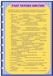 English Worksheet: Past Tenses Review