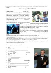 English Worksheet: Steven Spielberg a Hollywood Legend
