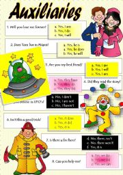 English Worksheets: AUXILIARIES